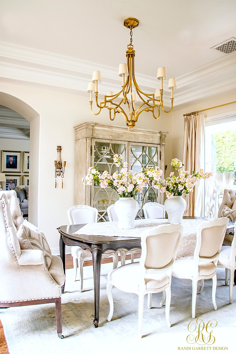 Glam Transitional Dining Room Reveal Randi Garrett Design