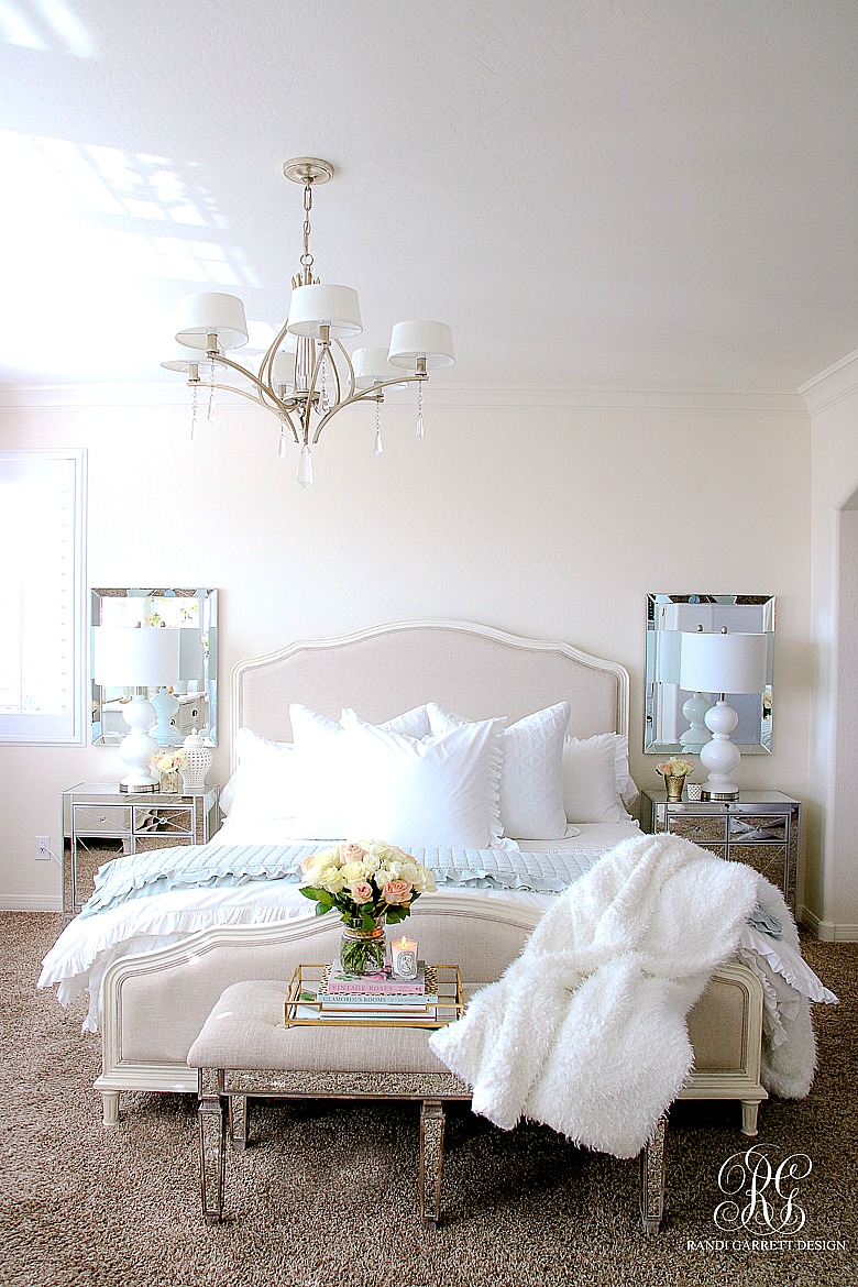 Elegant Master Bedroom Makeover - Dark to Light - Randi Garrett Design