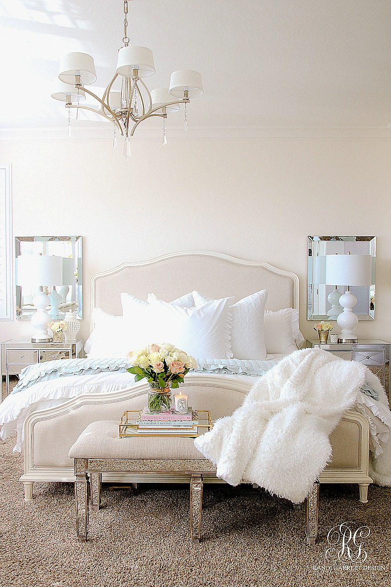 Elegant Master Bedroom Makeover - Dark to Light Transformation