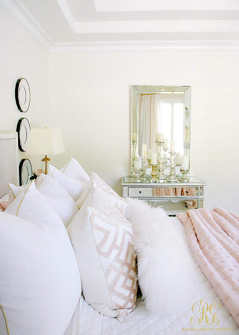 glam blush + gold spring bedroom - randi garrett design
