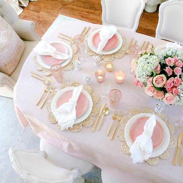 Blush Table for Easter or Spring