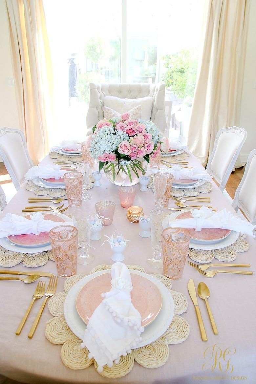 Blush Table For Easter Or Spring Randi Garrett Design