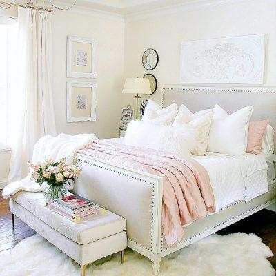 Glam Blush + Gold Spring Bedroom