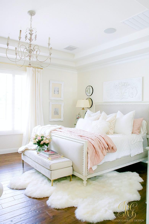 Glam Blush Gold Spring Bedroom Randi Garrett Design