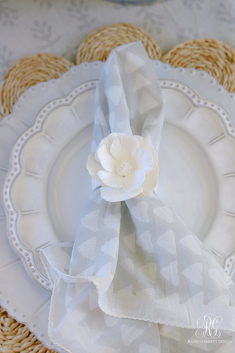 beaded dinner plates - mother's day place setting ideas
