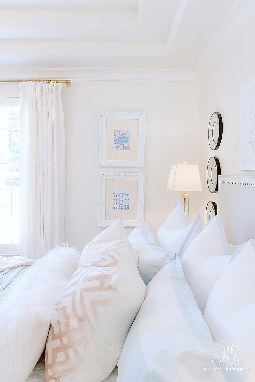 pink and blue bedding - summer bedroom
