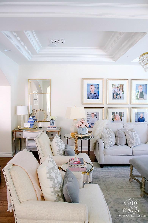 family room styled for summer - tips for summer decor