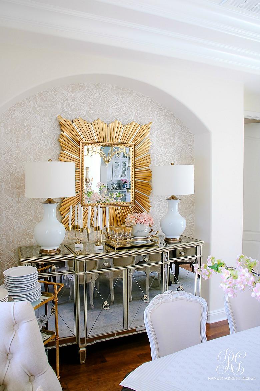 glam summer dining room