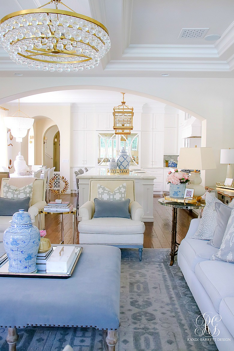 summer home tour - transitional family room