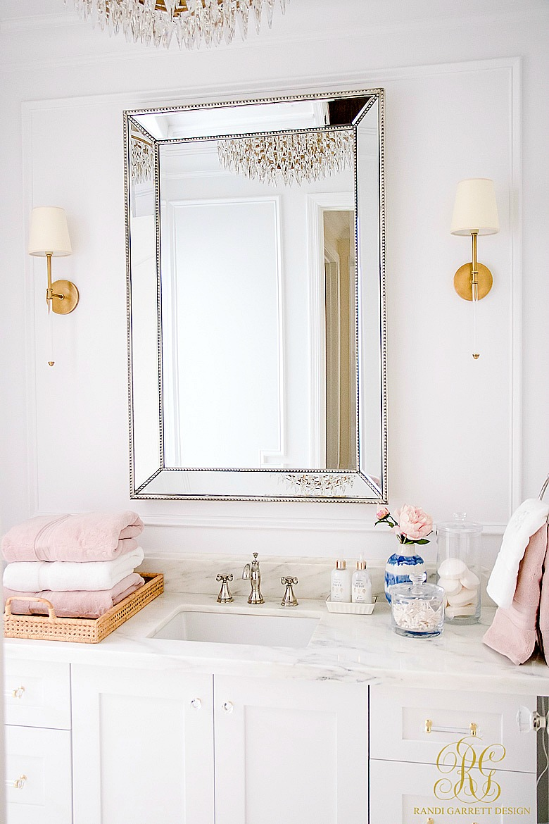 Daily Cleaning Routine - glam bathroom
