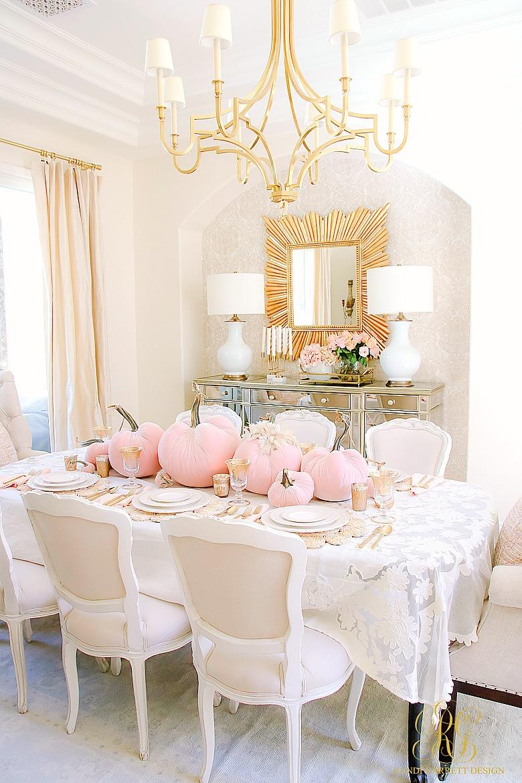 Pink Pumpkin Fall Tablescape Randi Garrett Design