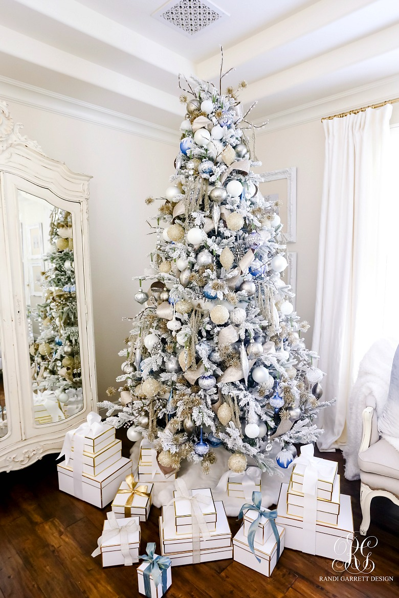 Frontgate Christmas Trees.Elegant Christmas Bedroom Randi Garrett Design