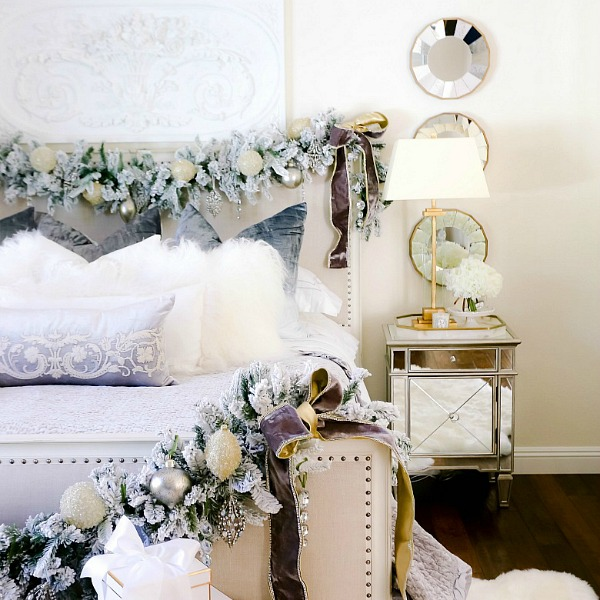 Elegant Christmas Bedroom