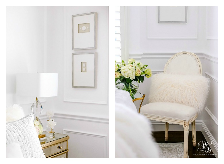 Glam guest bedroom details