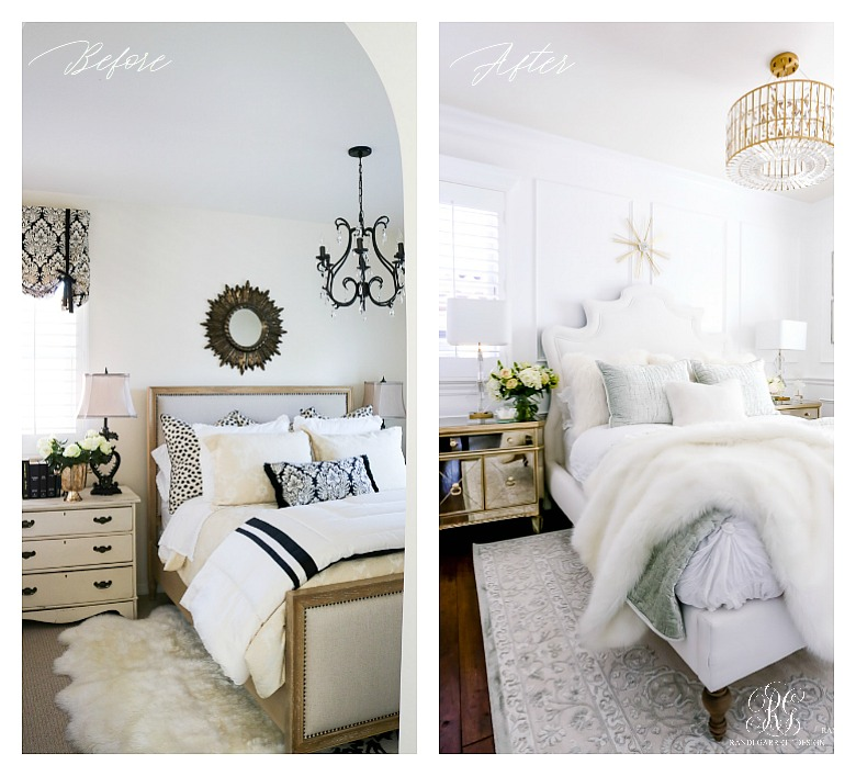 glam guest bedroom before and after