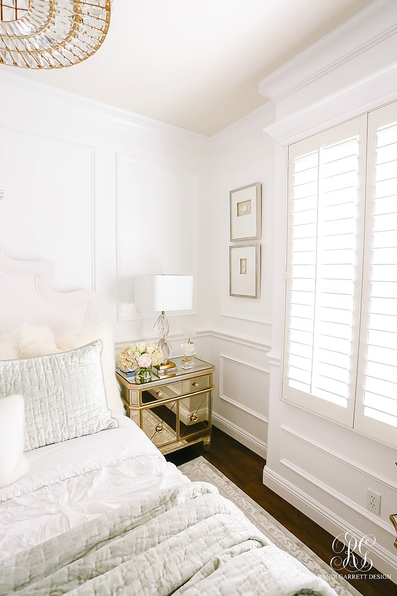 Tips for creating a glam guest bedroom