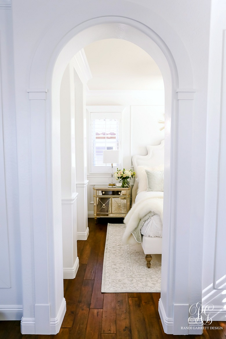 traditional moldings - wainscoting - glam guest bedroom makeover