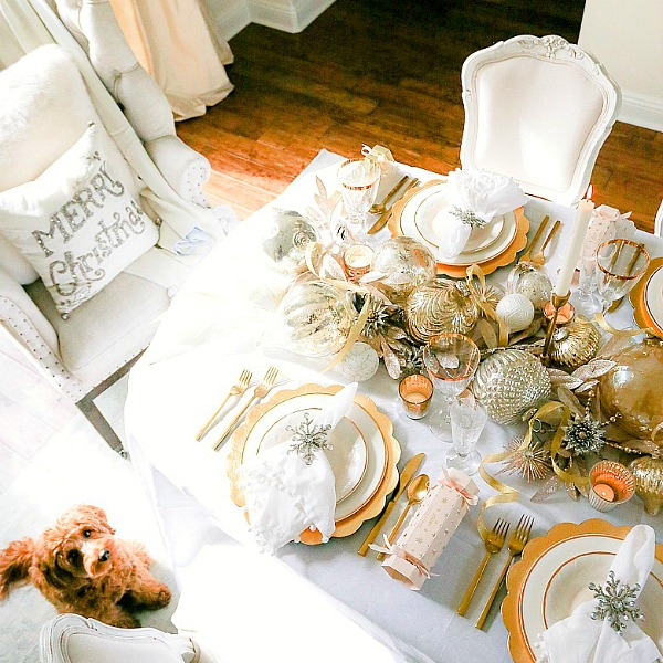 3 Tips to Set a Magical Silver and Gold Christmas Table