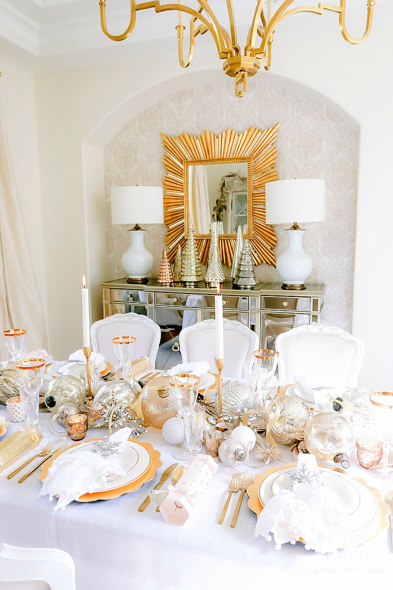 Magical Silver and Gold Christmas Table
