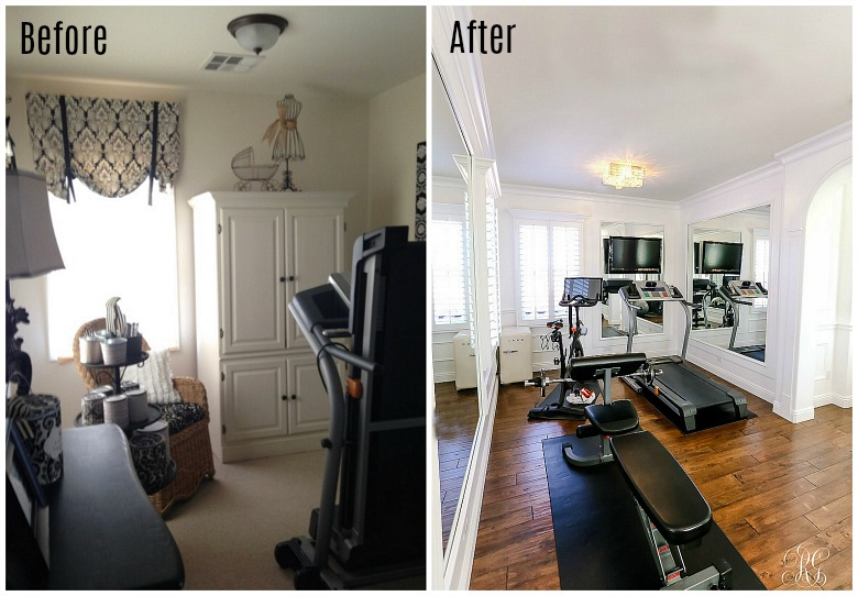 Glam home gym reveal randi garrett design