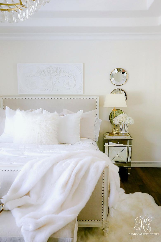white bed - bedding essentials