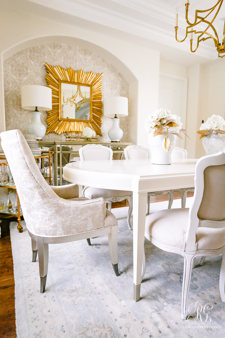 glam dining room - mirrored buffet
