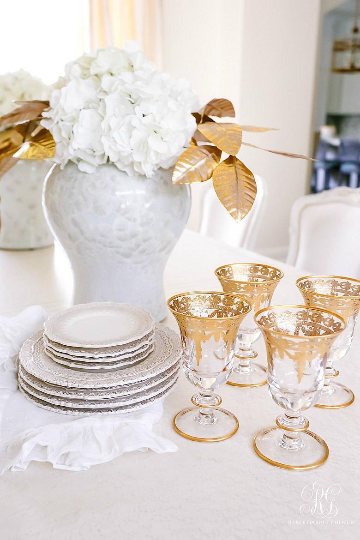 white gold dishes