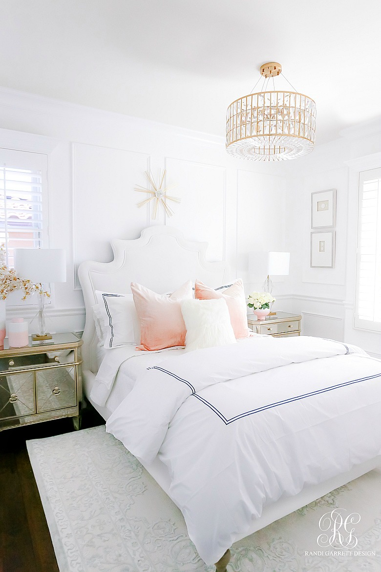 Glam Guest Bedroom Wainscoting