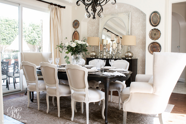 Glam Dining Room Reveal - Part 2