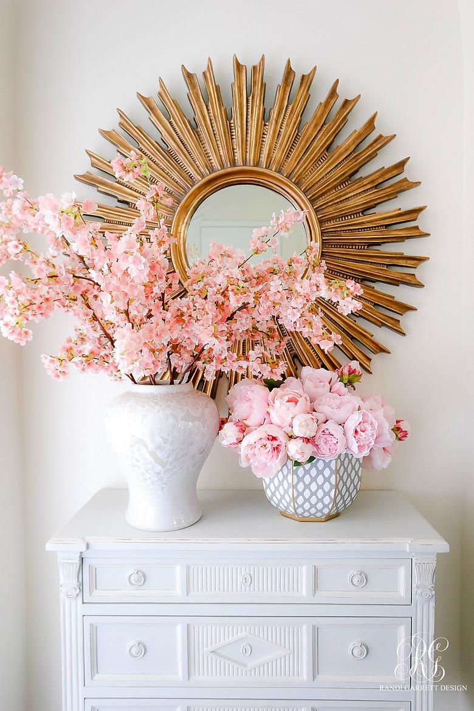 Spring Floral Arrangements Using Fresh Or Faux Florals Randi Garrett Design