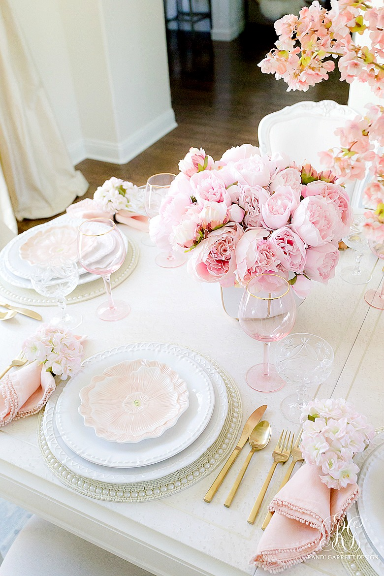 pink spring table
