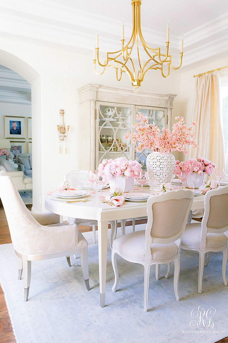 Pink Peony Easter Table