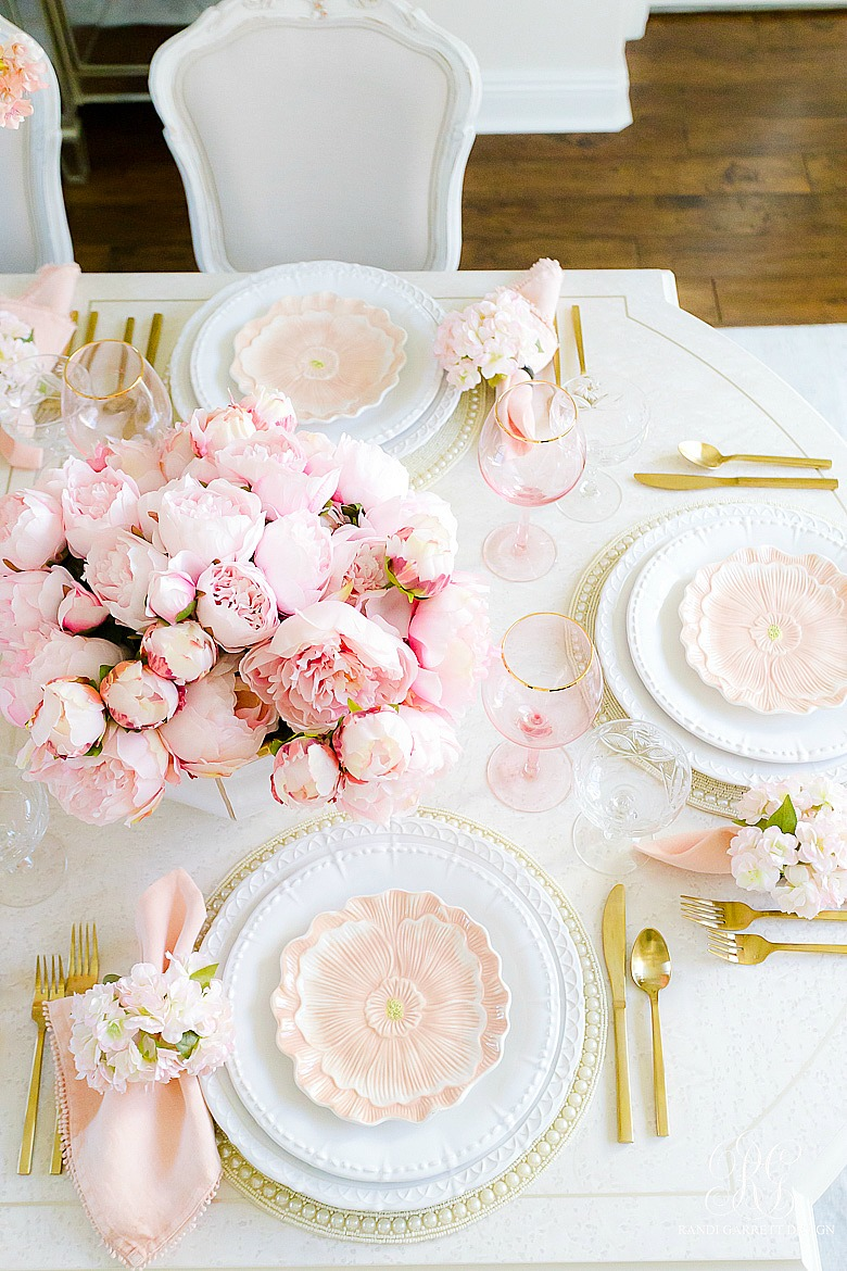 pretty pink easter table