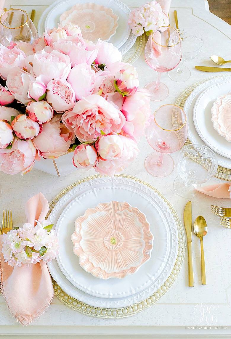 Pink Peony Easter Table Randi Garrett Design