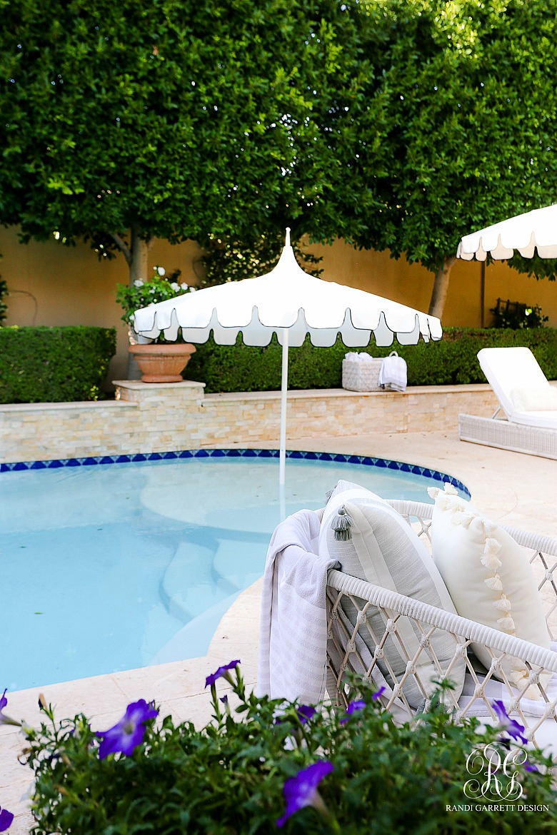 scalloped outdoor umbrella -Must Have Outdoor Pieces for Summer Entertaining