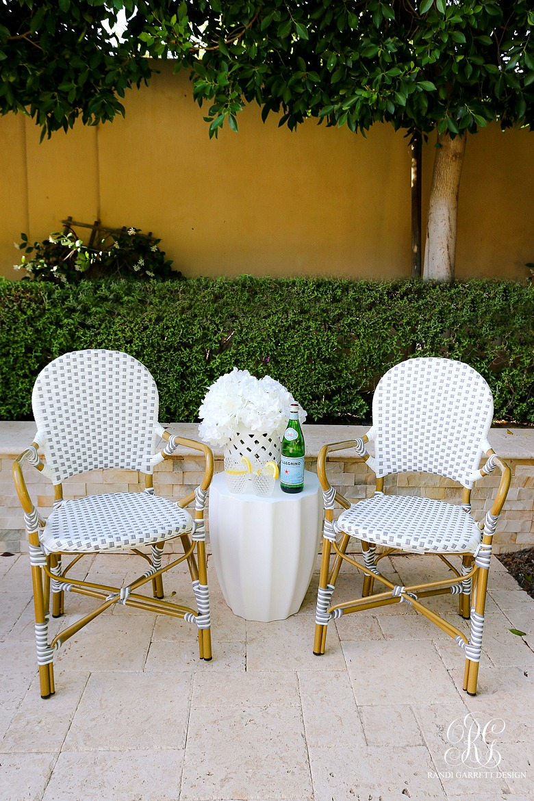 bistro chairs - summer entertaining tips