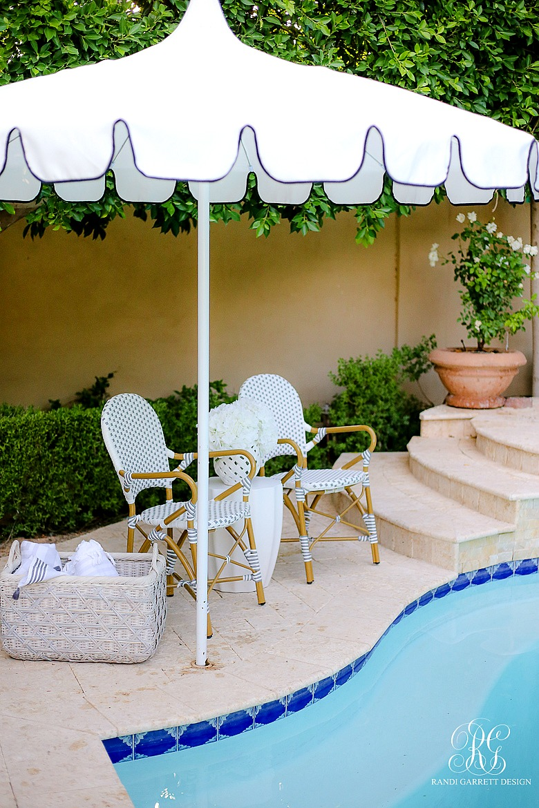 Must Have Outdoor Pieces for Summer Entertaining - scalloped outdoor umbrella