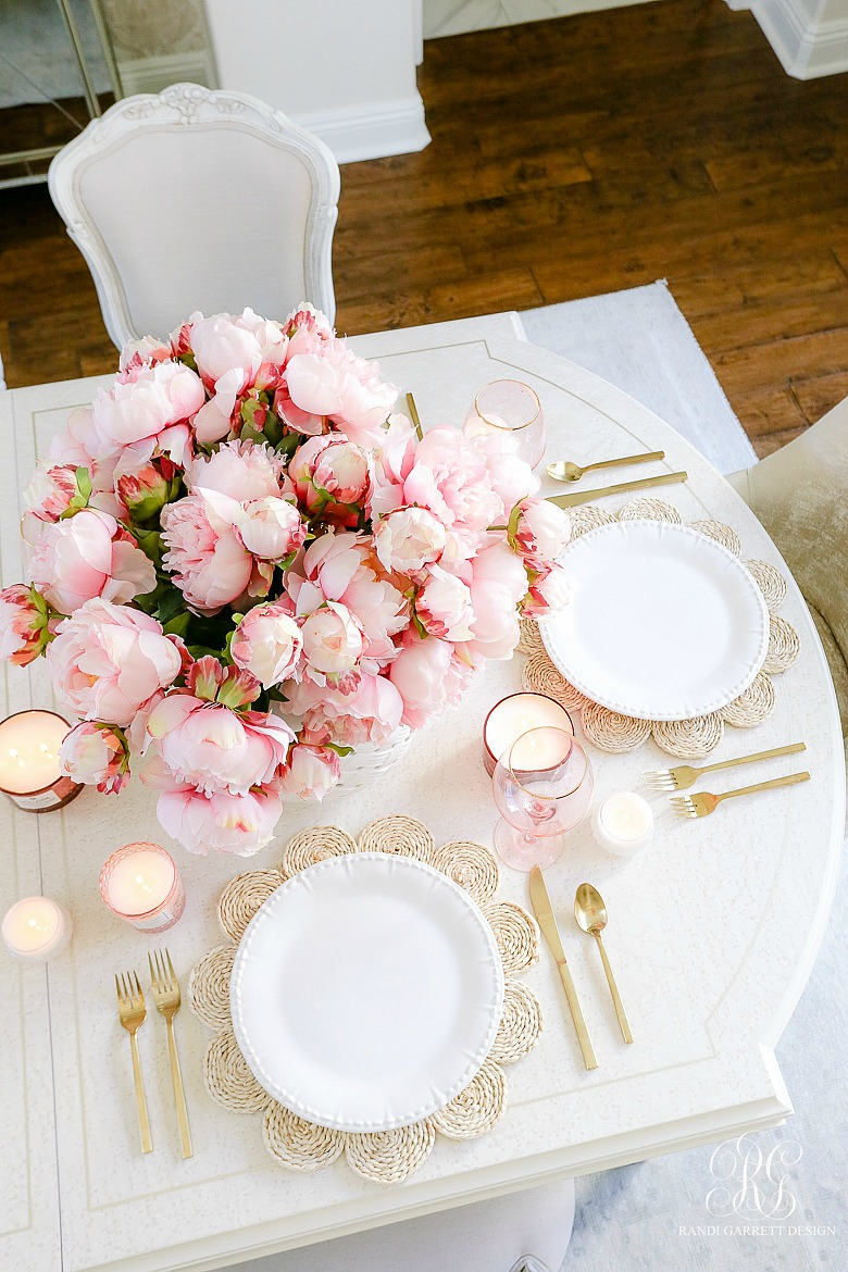 table scape pink peonies summer table ideas