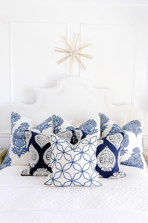 pretty blue white bedroom