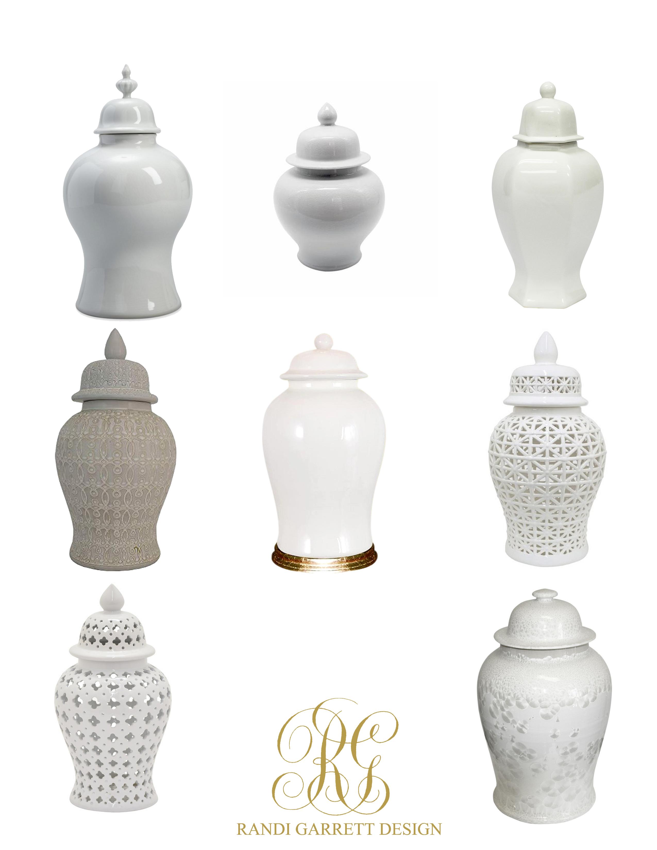 white ginger jars