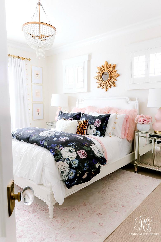 Girly Teen Bedroom Makeover - Randi Garrett Design
