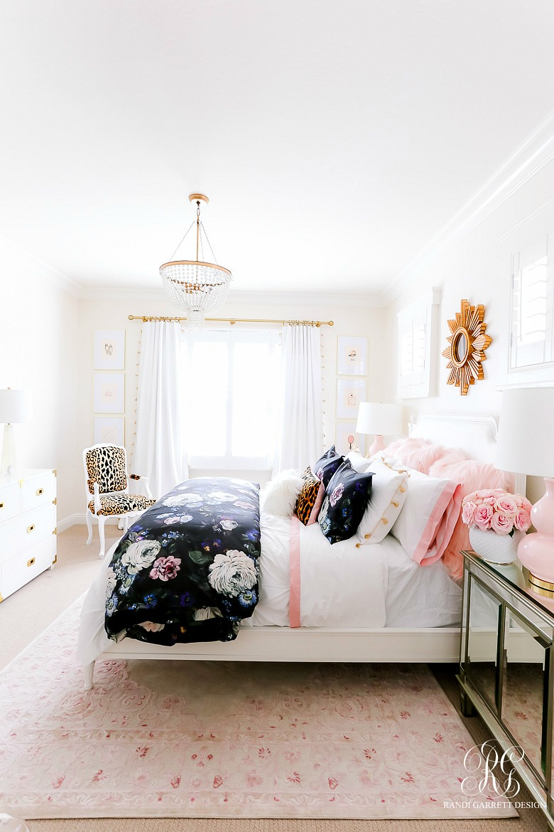Girly Teen Bedroom Makeover - Randi Garrett Design