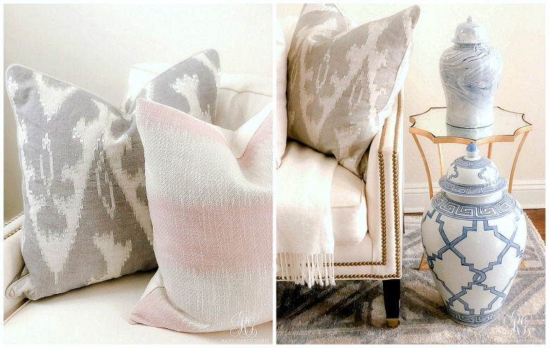 pink gray pillows