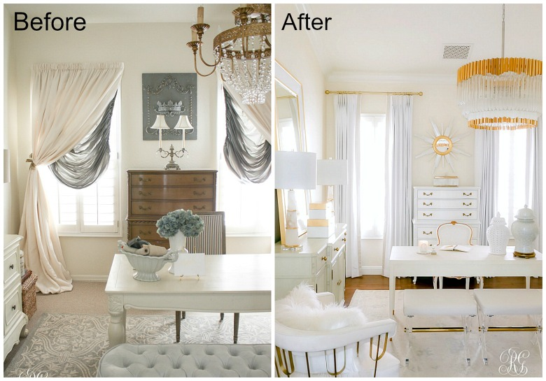Glam Home Office Reveal