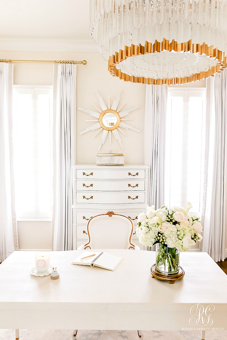 Glam Home Office Reveal - beautiful home office