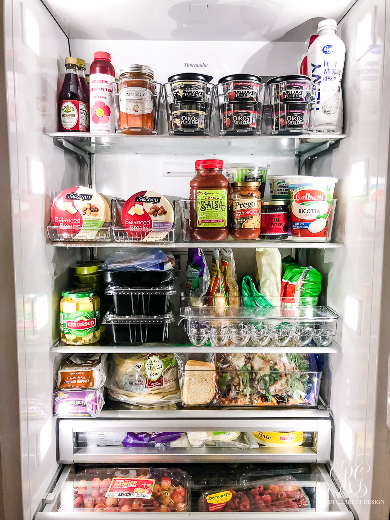 fridge after - refrigerator organization