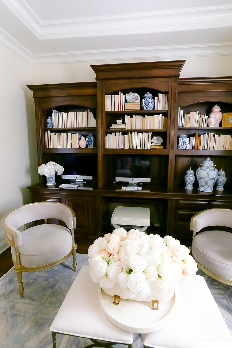 bookshelf styling - transitional den