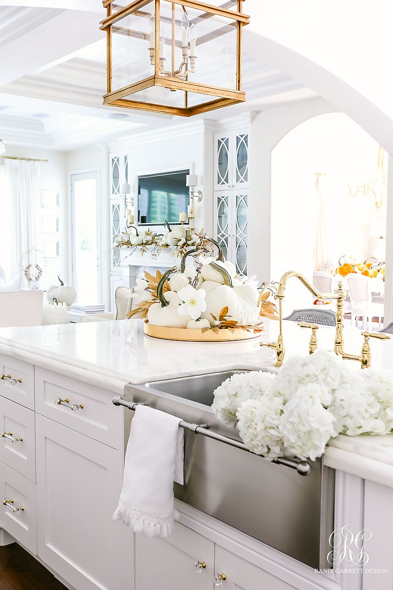 white gold glam kitchen fall