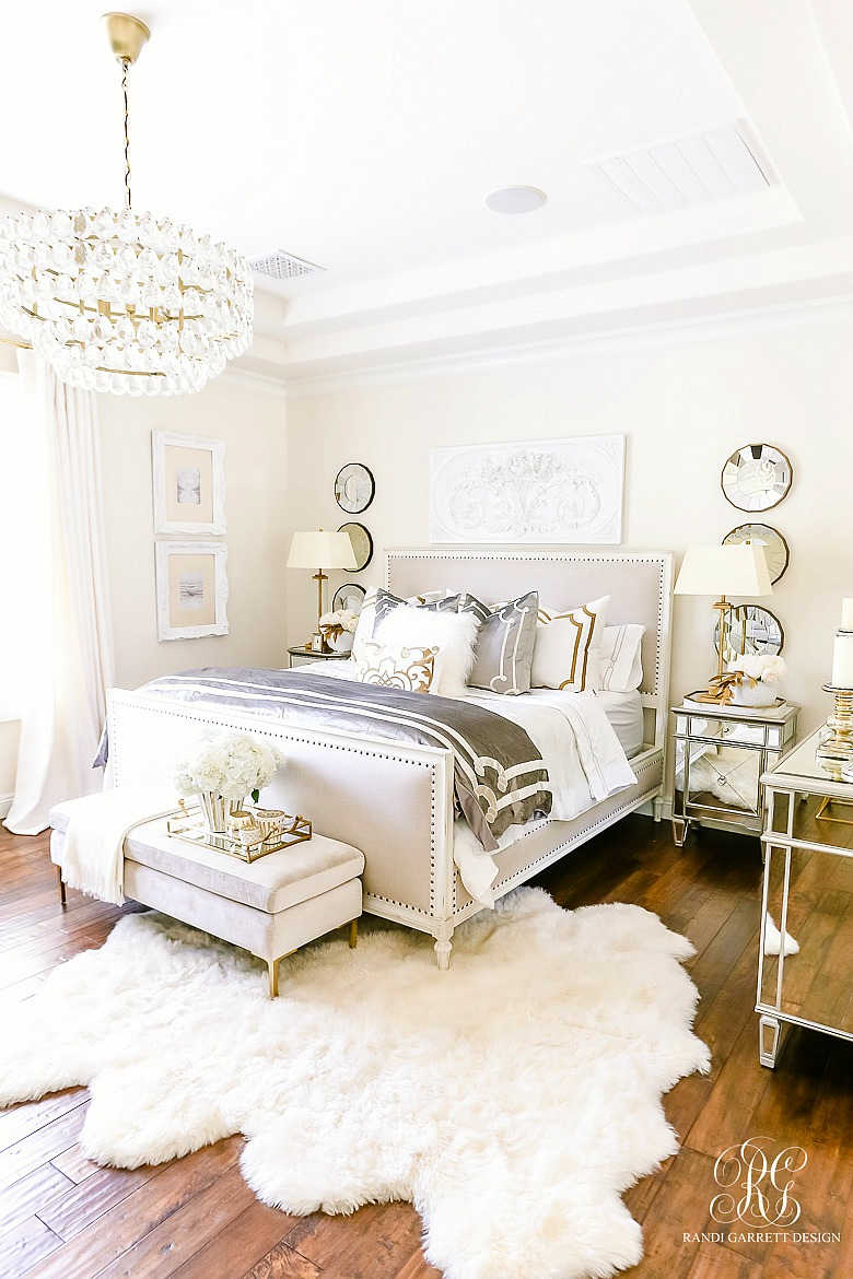 Luxurious Silver And Gold Fall Bedroom Randi Garrett Design