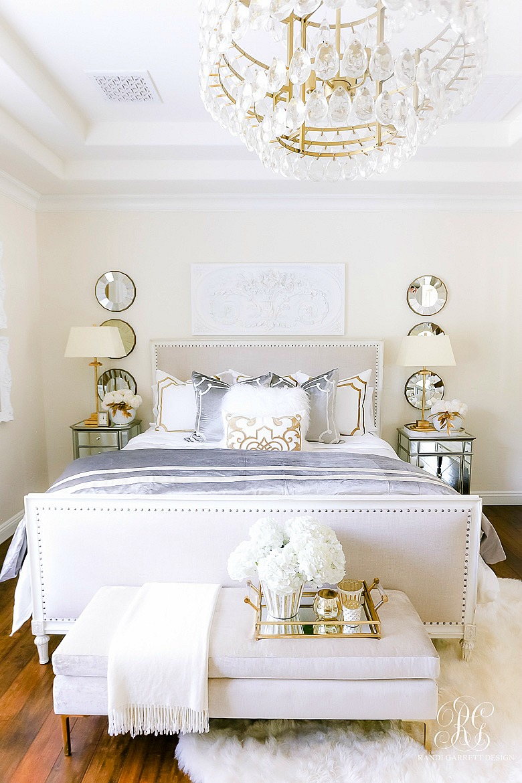 Luxurious Silver And Gold Fall Bedroom Randi Garrett Design